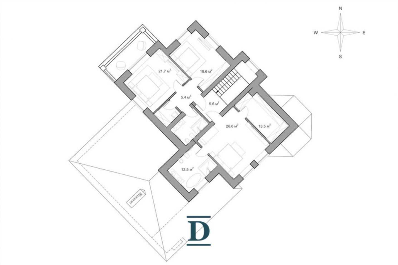 дом ID-208 в коттеджном посёлке Гринфилд фото-20